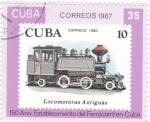 Sellos del Mundo : America : Cuba : 150 anivers. establecimiento ferrocarril en Cuba