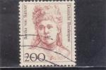 Stamps Germany -  BERTHA VON SUTTNER-mujeres célebres