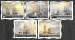 Sellos de Europa - Reino Unido -  325-329 - 150 Aniversario de la Muerte del Almirante Lord De Saumarez