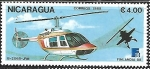 Stamps : America : Nicaragua :  Helicopteros -  Finlandia 1988