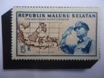 de Asia - Indonesia -  Republica de las Molucas del Sur, Fantasia -5°Aniv. de la Liberación Pacifica, 25 de Abril de 1950-