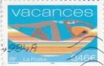 Stamps France -  vacaciones