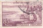 de Europa - Francia -  panorámica de Evian-les-Bains