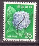 Stamps Japan -  Hortensia