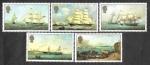 Sellos del Mundo : Europa : Reino_Unido : 348-352 - Pintura de Barcos por Philip John Ouless