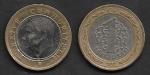 monedas del Mundo : Asia : Turquía :  1 Lira Turca