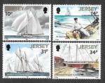 "Stamps : Europe : United_Kingdom :  414-417- Carrera de Goletas ""Westward"""