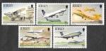 Sellos de Europa - Reino Unido -  418-422 - L Aniversario del Aeropuerto de Jersey