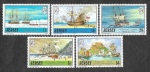 Sellos del Mundo : Europa : Reino_Unido : 426-430 - Barcos