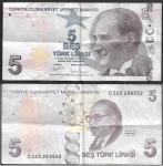 monedas del Mundo : Asia : Turquía :  5 Lira Turca
