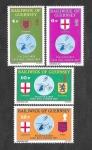Stamps : Europe : United_Kingdom :  127-130 - Armas y Mapas de Guernsey