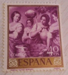 Stamps Europe - Spain -  Rebeca y Elizer (Murillo)