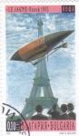 Sellos del Mundo : Europa : Bulgaria : zeppelin y torre Eiffel