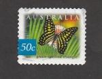 Stamps : Oceania : Australia :  Mariposa con manchas triangulares verdes