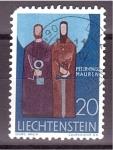 Stamps Liechtenstein -  serie- Santos Patrones- Pedro y Pablo