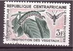 Sellos de Africa - Rep Centroafricana -  serie- Plantas y sus plagas
