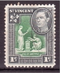 Stamps : America : Saint_Vincent_and_the_Grenadines :  George VI