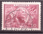 Sellos de Europa - Letonia -  XX aniv. Republica
