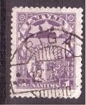 Stamps Latvia -  serie- Escudo Nacional