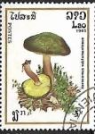 Sellos de Asia - Laos -  Setas - Xerocomus Subtomentosus