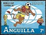 Sellos del Mundo : America : Anguila : Dibujos animados - copa del mundo