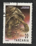 Sellos de Africa - Tanzania -  1414 - Tortuga