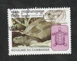 Stamps Cambodia -  1560 - Tortuga