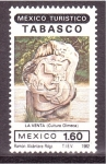 Stamps Mexico -  serie- Turismo