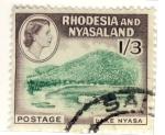 Stamps Africa - Zambia -  Lake Nyasa