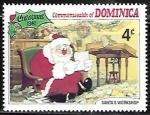 Stamps : America : Dominica :  Escenas de Navidad