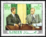 Stamps : Asia : United_Arab_Emirates :  Eisenhower y Kennedy