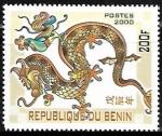 Stamps : Africa : Benin :  Año del dragón
