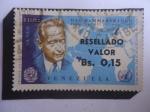 sellos de America - Venezuela -  Dag Hammarskjöld (1905-1961)-Premio Nobel de la Paz 1961-2°Secretario de la ONU (1953-1961)