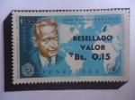 sellos de America - Venezuela -  Dag Hammarskjöld (1905-1961)-Premio Nobel de la Paz 1961- 2° secretario de la ONU-1953-1961.