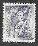 Stamps Czechoslovakia -  656 - Maquinista