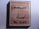 sellos de America - Venezuela -  Oficina Principal Correos de Caracas - Serie: Sellos Resellados y Nuevos Valores,1965)