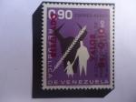 sellos de America - Venezuela -  IX Censo General de Población  y el III Agropecuario - Serie:Sellos Resellados y Nuevos Valores-1965