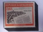 sellos de America - Venezuela -  Gazeta de Caracas - 150° Aniversario de la Aparición del Primer Periódico Impreso en Venezuela, 1808