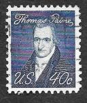 Sellos de America - Estados Unidos -  1292 - Thomas Paine