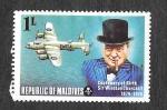 sellos de Asia - Maldivas -  524 - Centenario del Nacimiento de Sir Winston Churchill