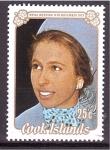 Stamps Oceania - Cook Islands -  Boda Real de la princesa Ana con Mark Phillips