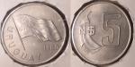 monedas del Mundo : America : Uruguay :  5 pesos