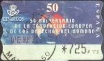 Sellos de Europa - España -  ATM intercambio 0,20 usd. 725 pts., 2000