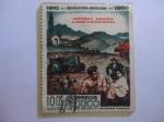 Stamps Mexico -  Reforma Agraria-Serie:50 Aniversario de la Revolución Mexicana (1910-1960).45 millones de Hectáreas