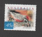 Stamps : Oceania : Australia :  Rana carmesí