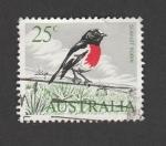 Stamps : Oceania : Australia :  Zorzal pecho escarlata