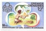 Sellos de America - Granada -  girls scouts