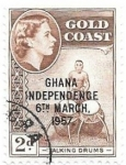 Stamps : Africa : Ghana :  independencia