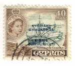 Stamps Asia - Cyprus -  FAMAGUSTA HARBOUR