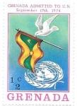 Sellos del Mundo : America : Granada :  Admisión en la ONU
